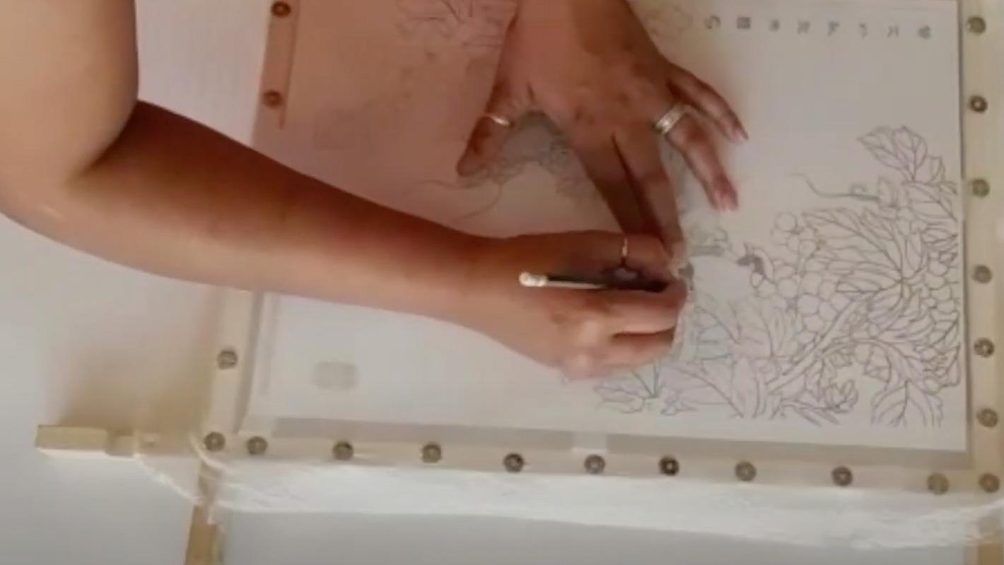 الرسم على الحرير