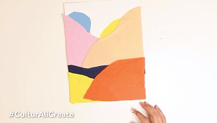 نشاط فني مستوحى من الفنانة إتيل عدنان