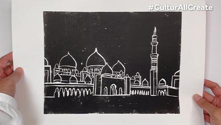 طباعة اللينوليوم - مسجد الشيخ زايد